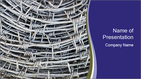 Stainless Barbed wire PowerPoint Template