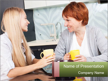 Mother And Adult Daughter PowerPoint Template - Slide 1