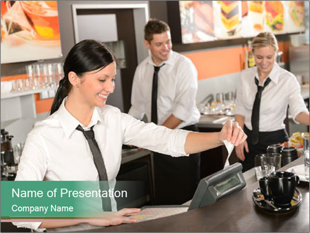 Barista Team PowerPoint Templates