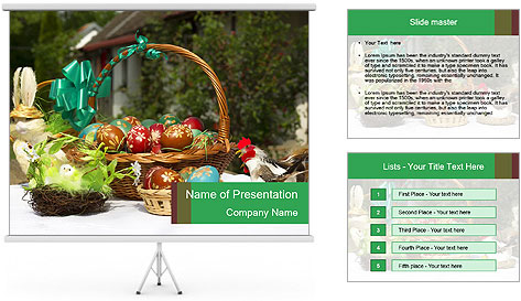 Food On Table PowerPoint Template