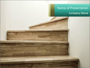 Oak Staircase PowerPoint Template - Slide 1