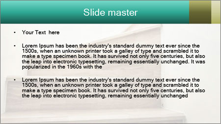 Oak Staircase PowerPoint Template - Slide 2