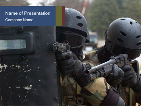 Police During Terrorism Attack PowerPoint Templates