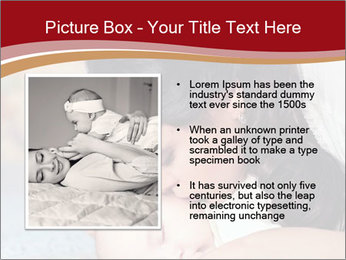 Mother Kisses Baby PowerPoint Template - Slide 13