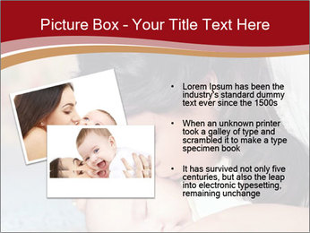 Mother Kisses Baby PowerPoint Template - Slide 20