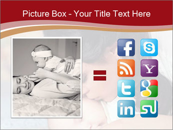 Mother Kisses Baby PowerPoint Template - Slide 21