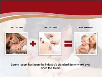 Mother Kisses Baby PowerPoint Template - Slide 22