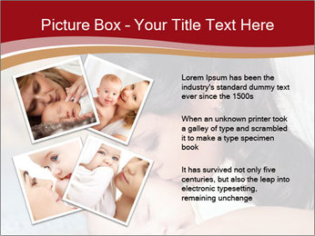 Mother Kisses Baby PowerPoint Template - Slide 23