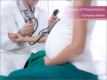 Doctor And Pregnant Woman PowerPoint Template