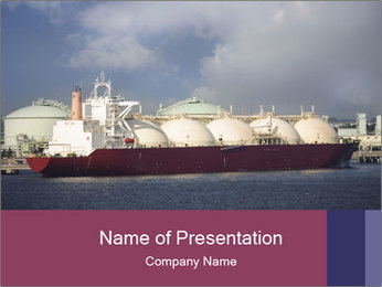 Shipping Boat PowerPoint Template