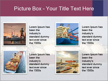 Shipping Boat PowerPoint Templates - Slide 14