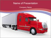 Red And White Truck PowerPoint Template