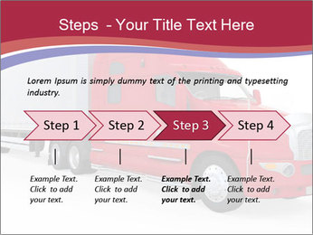 Red And White Truck PowerPoint Template - Slide 4