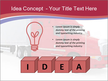 Red And White Truck PowerPoint Template - Slide 80