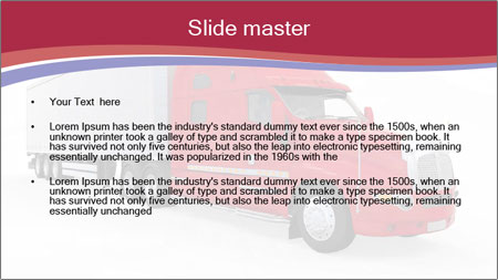 Red And White Truck PowerPoint Template - Slide 2