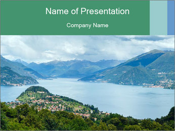 Alpine Lake Como summer view PowerPoint Template - Slide 1