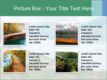 Alpine Lake Como summer view PowerPoint Template - Slide 14