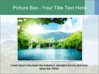 Alpine Lake Como summer view PowerPoint Template - Slide 15