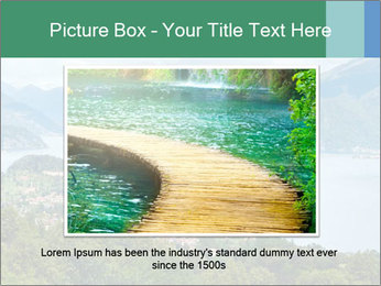 Alpine Lake Como summer view PowerPoint Template - Slide 16