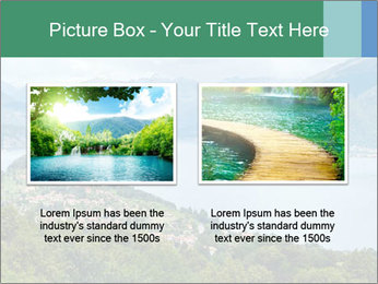 Alpine Lake Como summer view PowerPoint Template - Slide 18