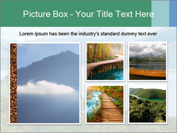 Alpine Lake Como summer view PowerPoint Template - Slide 19