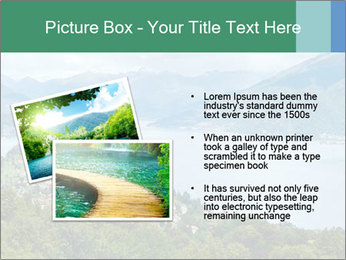 Alpine Lake Como summer view PowerPoint Template - Slide 20