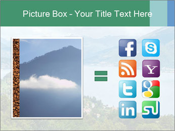 Alpine Lake Como summer view PowerPoint Template - Slide 21