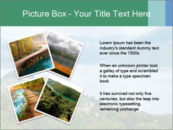 Alpine Lake Como summer view PowerPoint Template - Slide 23