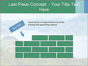 Alpine Lake Como summer view PowerPoint Template - Slide 46