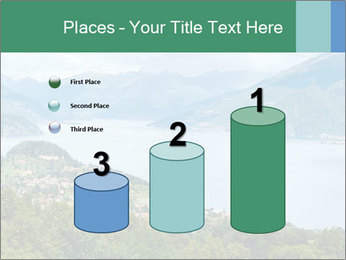 Alpine Lake Como summer view PowerPoint Template - Slide 65