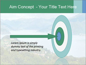 Alpine Lake Como summer view PowerPoint Template - Slide 83