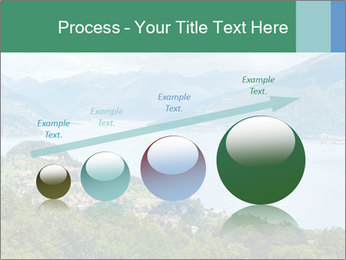 Alpine Lake Como summer view PowerPoint Template - Slide 87