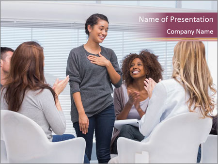 Happy patient has a breakthrough PowerPoint Template