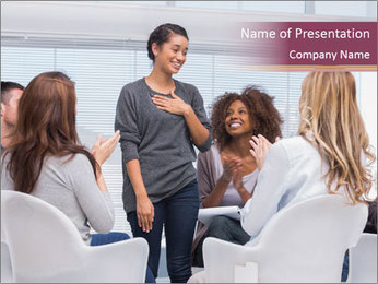 Happy patient has a breakthrough PowerPoint Template