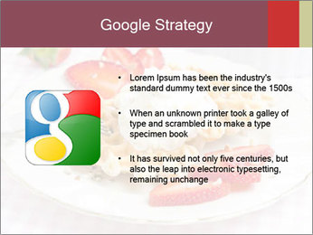Belgian waffles with fresh strawberries PowerPoint Template - Slide 10