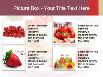 Belgian waffles with fresh strawberries PowerPoint Template - Slide 14
