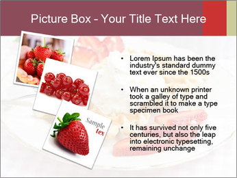 Belgian waffles with fresh strawberries PowerPoint Template - Slide 17