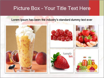 Belgian waffles with fresh strawberries PowerPoint Template - Slide 19