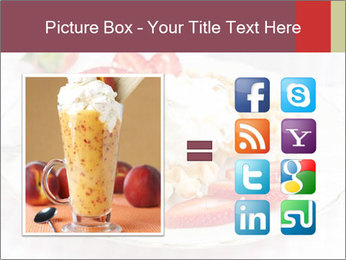 Belgian waffles with fresh strawberries PowerPoint Template - Slide 21