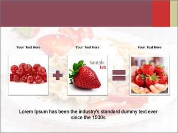 Belgian waffles with fresh strawberries PowerPoint Template - Slide 22