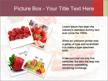 Belgian waffles with fresh strawberries PowerPoint Template - Slide 23