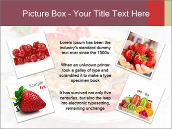 Belgian waffles with fresh strawberries PowerPoint Templates - Slide 24