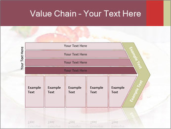 Belgian waffles with fresh strawberries PowerPoint Template - Slide 27