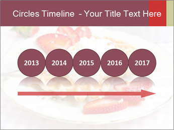 Belgian waffles with fresh strawberries PowerPoint Template - Slide 29
