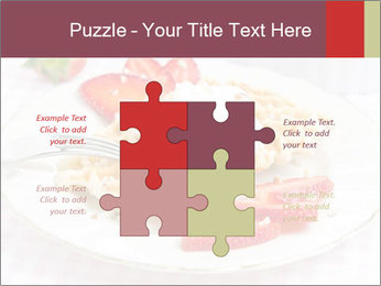 Belgian waffles with fresh strawberries PowerPoint Template - Slide 43