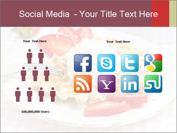 Belgian waffles with fresh strawberries PowerPoint Template - Slide 5