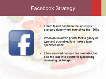 Belgian waffles with fresh strawberries PowerPoint Template - Slide 6