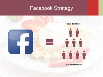 Belgian waffles with fresh strawberries PowerPoint Templates - Slide 7