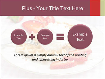 Belgian waffles with fresh strawberries PowerPoint Template - Slide 75