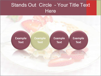 Belgian waffles with fresh strawberries PowerPoint Template - Slide 76